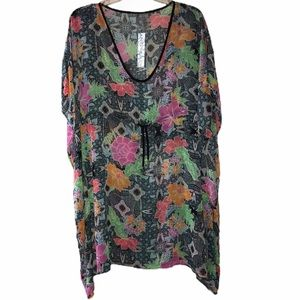 Into the Bleu Floral Cover-up - Size Small